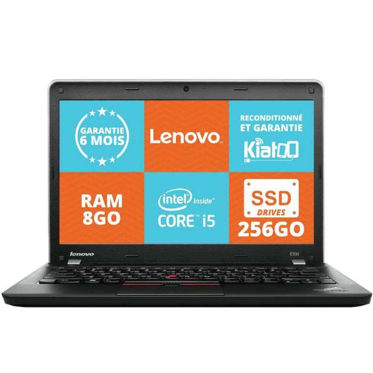 pc portable pas cher lenovo thinkpad e330 disque dur ssd intel core i5 8go ram 240 go disque dur. Black Bedroom Furniture Sets. Home Design Ideas