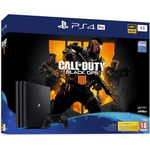 CONSOLE PS4 Console PS4 Pro 1To Noire/Jet Black + Call of Duty