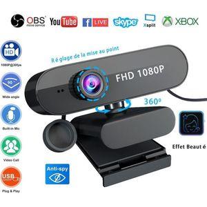 WEBCAM Webcam 1080P Full HD Live Streaming avec Microphon