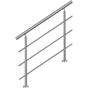 RAMPE - MAIN COURANTE Rampe escalier Acier Inoxydable 4 Tiges 150cm Ramb