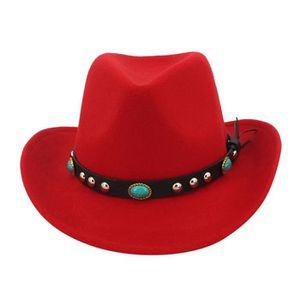 CHAPEAU - BOB Hiver hommes et chapeau de cowboy tissé classique