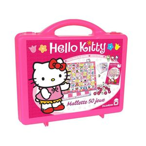 MALETTE MULTI-JEUX Mallette 50 jeux Hello Kitty