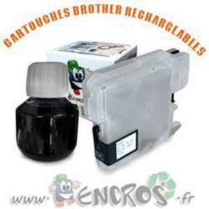 CARTOUCHE IMPRIMANTE RECHARGEABLE- BROTHER LC1100-LC980 Black- Kit Cart