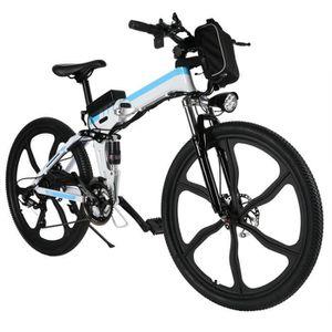VÉLO ASSISTANCE ÉLEC VTT Vélo de montagne de puissance pliant- velo éle