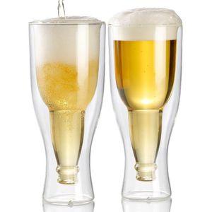 Verre à bière - Cidre Pack de 2 verres à bière à double paroi - 20 cl