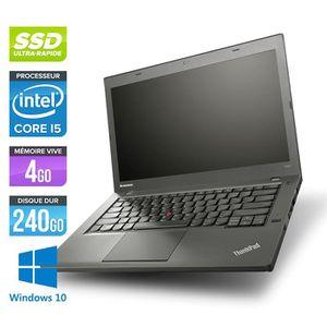Vente PC Portable Pc portable Lenovo T440 -Core i5-4300U -4G -240G SSD -Win. 10 pas cher
