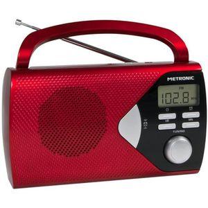 RADIO CD CASSETTE Metronic 477201, Portable, Numérique, AM,FM, LCD,