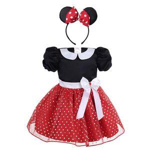 ROBE Robe à Pois manches courtes princesse Costume Mari