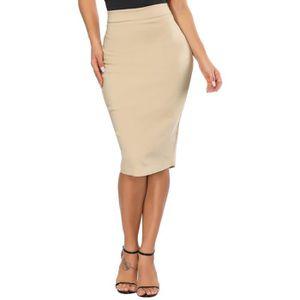 JUPE jupe crayon femme sous le genou, jupe crayon élast