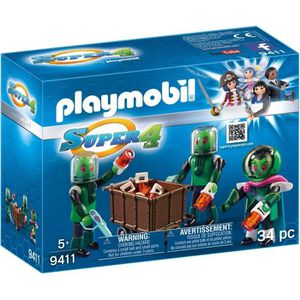 UNIVERS MINIATURE PLAYMOBIL 9411 - Super 4 - Sykronier Aliens