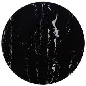 TABLE À MANGER SEULE Dessus de table Noir Ø70 cm Marbre