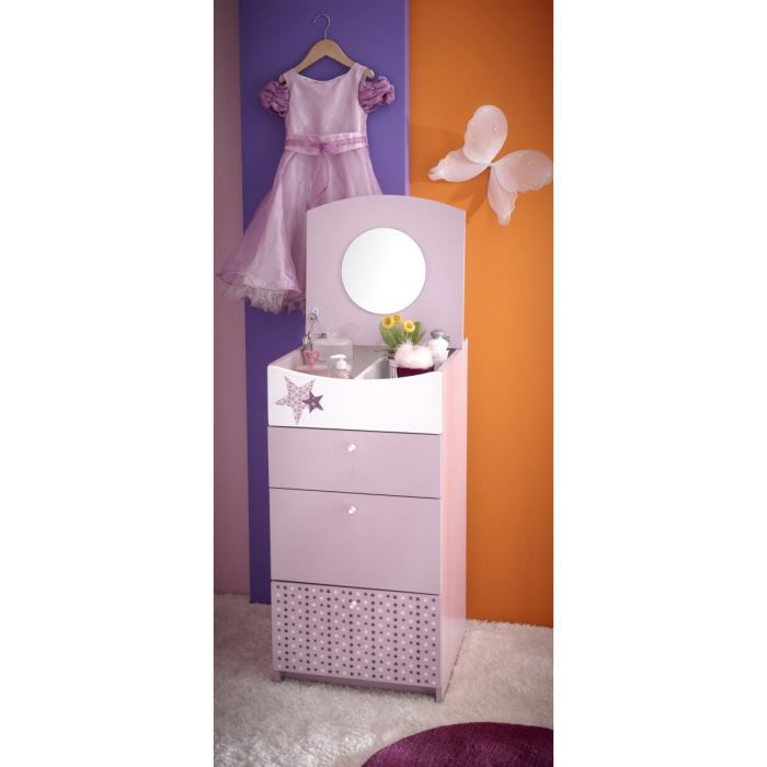 Fairy chiffonnier lilas motifs toiles achat vente - Commode pas chere discount ...
