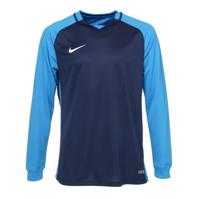 NIKE Maillot Manches longues Trophy III - Homme - Bleu glacier