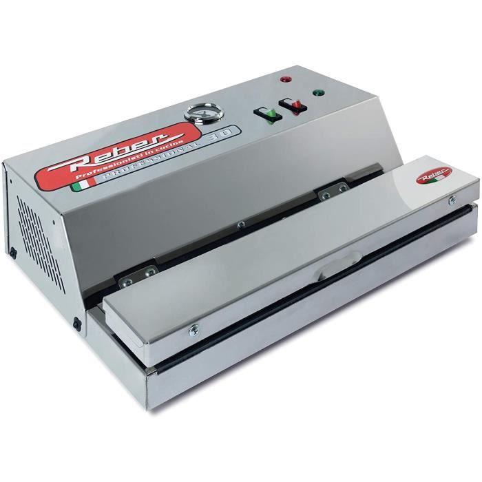 Reber-9709 en Appareil à Emballage Sous Vide Automatique Ecopro 30,-850MB 18 L/Min Inox 200 Watts Gris