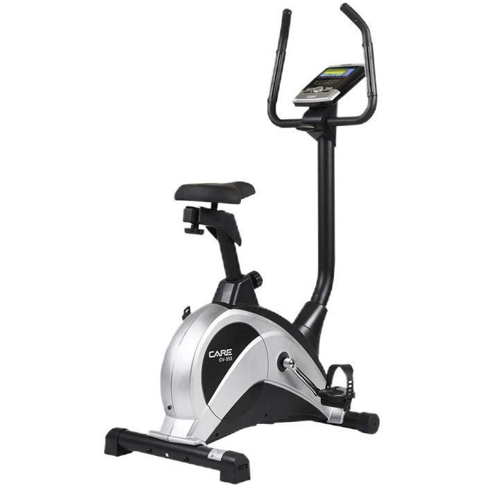 CARE FITNESS - Vélo d'Appartement CV-355 - Masse d'Inertie 10 kg - Résistance Motorisée 16 Niveaux - 24 Programmes d'Entraînement -