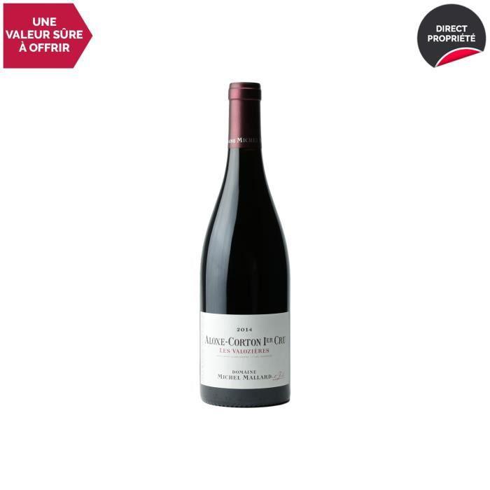 Aloxe-Corton 1er Cru Les Valozières Rouge 2014 - 75cl - Domaine Michel Mallard - Vin AOC Rouge de Bourgogne - Cépage Pinot Noir