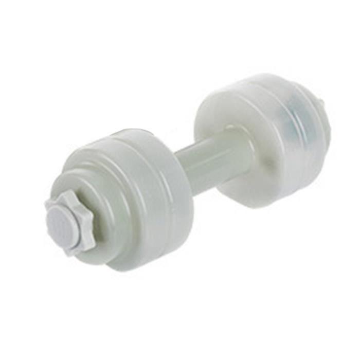 Mini haltère de remplissage d'eau portable en plastique - Gris