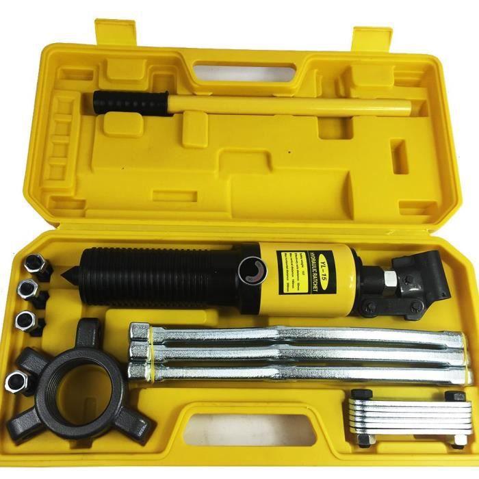 15 tonnes hydraulique Gear séparateurs de Arrache moyeu Extracteur Roulement Garage Outil Kit