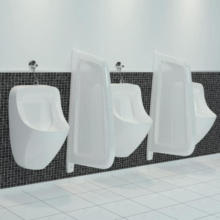 ♫4763 Brise-vue Classique - Clôture Grillage pour urinoir mural Céramique Blanc FNCM®