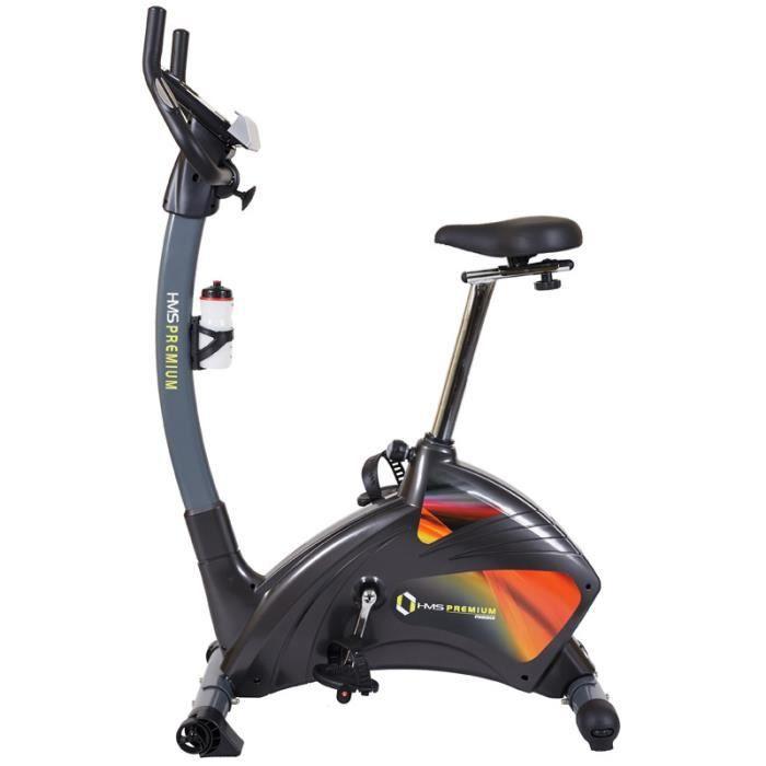HMSPORT - Vélo d'appartement magnétique - Cardio Fitness - Vélo d'intérieur - 24 programmes - Bluetooth + Support tablette -
