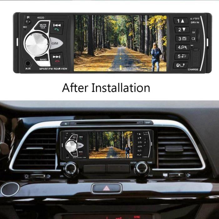LIZ® 4.1'' HD Lecteur MP5 Bluetooth de Voiture Radio FM Caméra de Recul Avec Télécommande