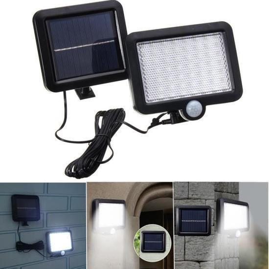 56 LED Applique Solaire Mur Lumière Éclairage Détecteur Mouvement Extérieur Jardin NF