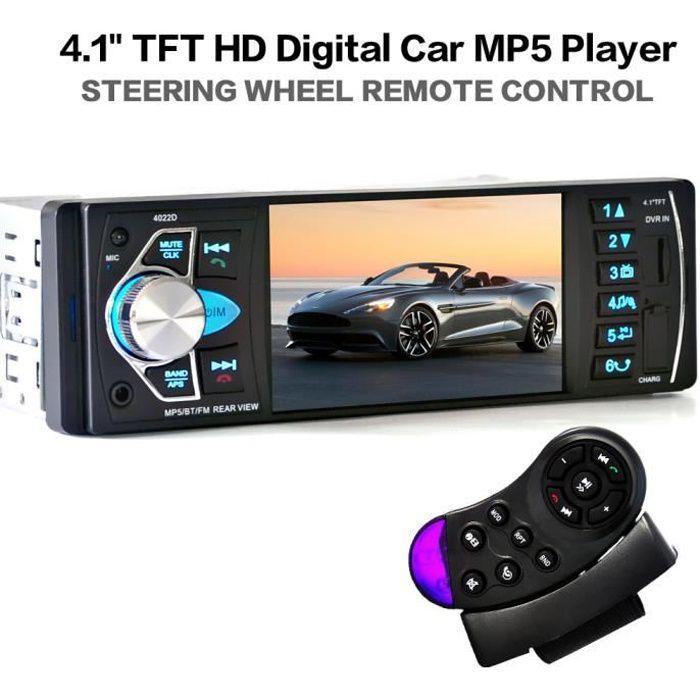 Car Stereo 4.1 Pouces lecteur HD MP5 écran Autoradio Bluetooth Lecteur Vidéo Support USB/TF/AUX multimédia avec Télécommande