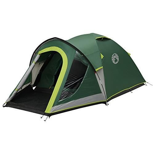 Coleman Tente Kobuk Valley 3, tente de camping, toile de tente 3 personnes avec Technologie BlackOut Bedroom, tente festival, tent