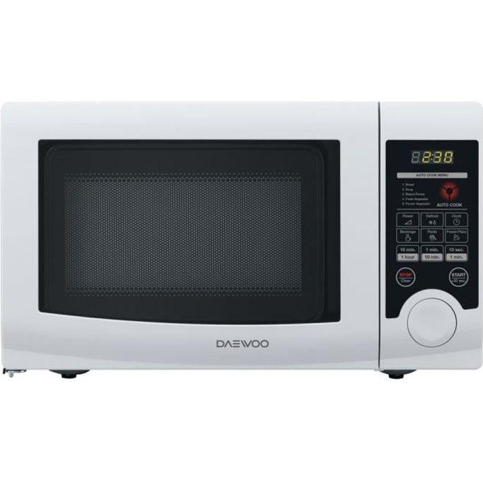 Daewoo KOR-6L3B, Comptoir, Micro-ondes uniquement, 20 L, 700 W, Tactil, Blanc