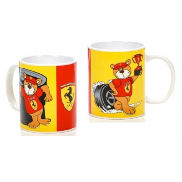 MUG Ferrari Racing Teddy Formula One 1 F1 rouge & Yellow Comes in Gift Box FR