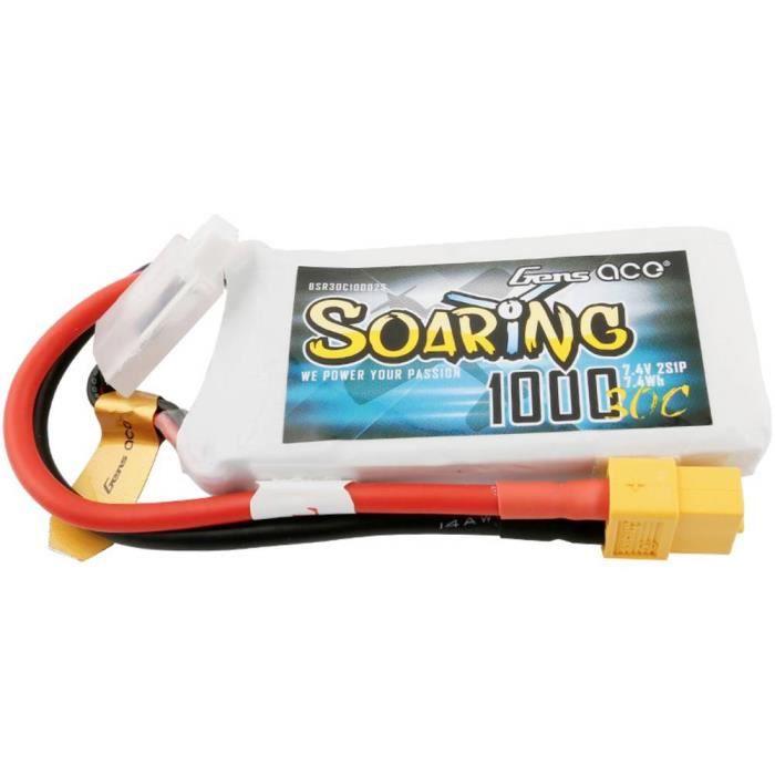 Pack de batterie (LiPo) 7.4 V 1000 mAh Gens ace BSR30C10002S Nombre de cellules: 2 30 C Softcase XT60 1 pc(s)
