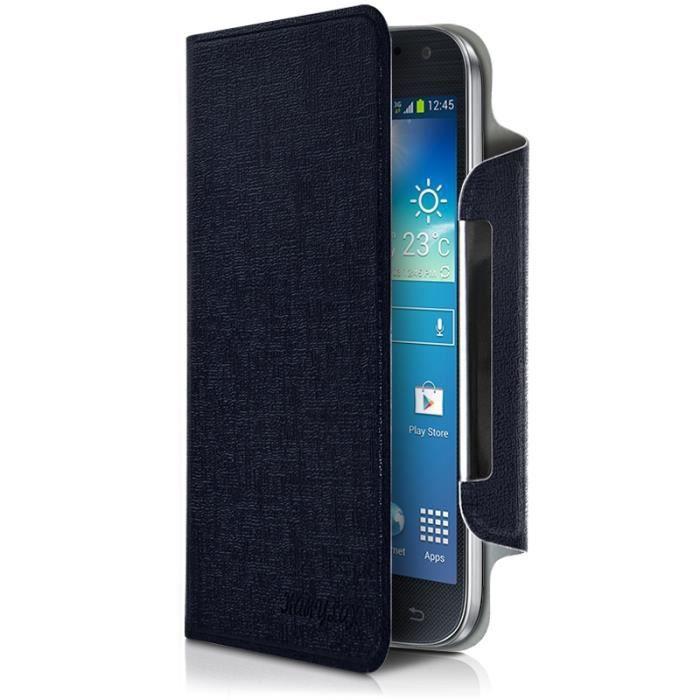 Housse Etui à Rabat Universel S Couleur Bleu pour smartphone Hisense U912