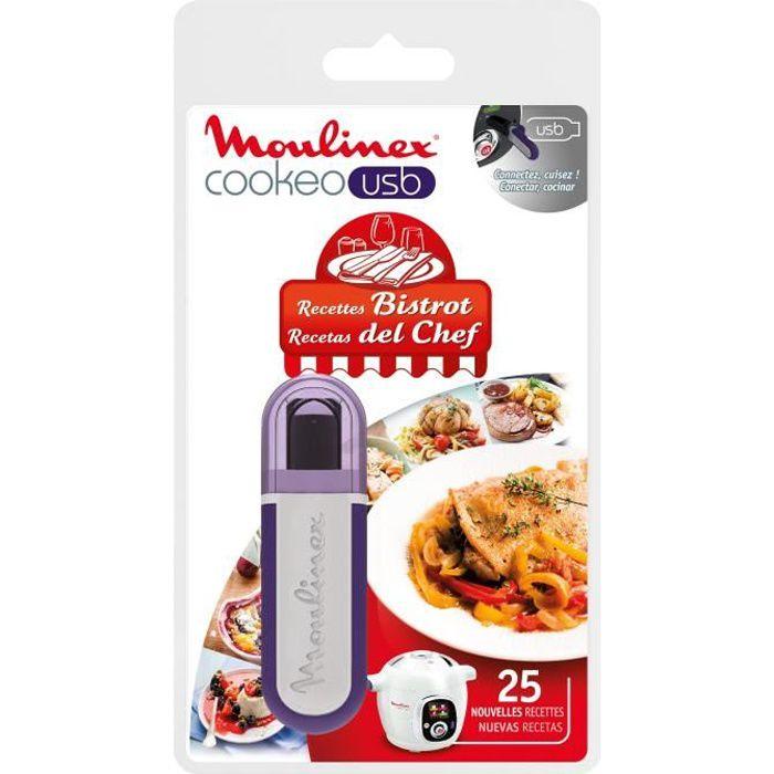 MOULINEX Accessoires XA600411 Clé USB thème bistrot pour Cookeo
