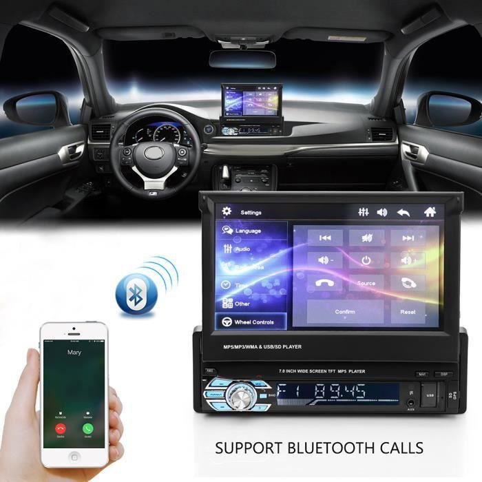 7- Autoradio Gps Bluetooth Navigation Voiture Stéréo Lecteur Mp5 Fm Multimédia Stéréo