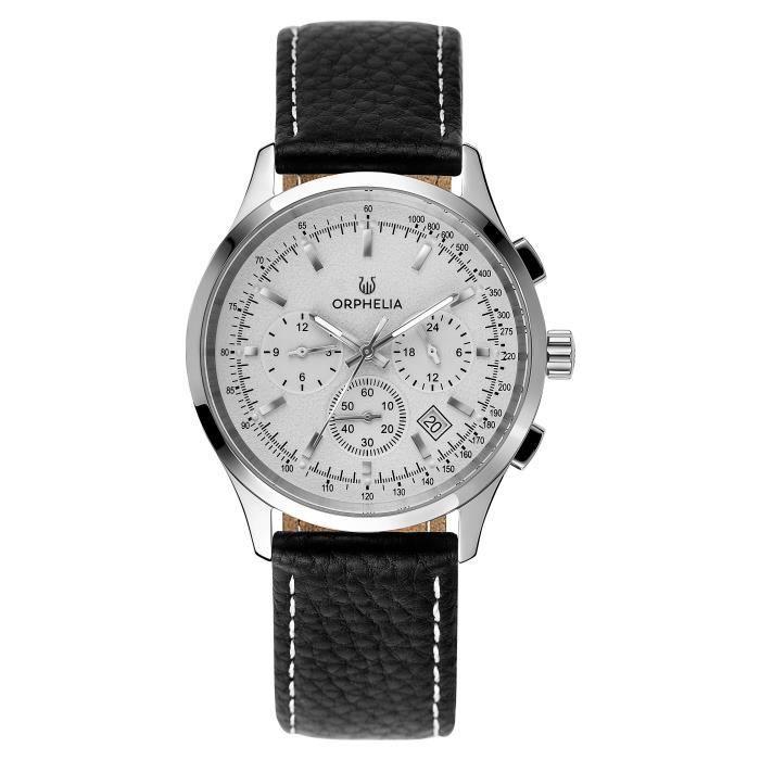 ORPHELIA-Montre Chronographe pour Homme à movement Quartz en Cuir-81700