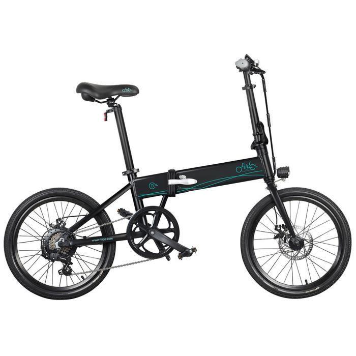 FIIDO D4S Vélo électrique 250w Taille des pneus 20- Conception pliante Tout le corps en aluminium Noir
