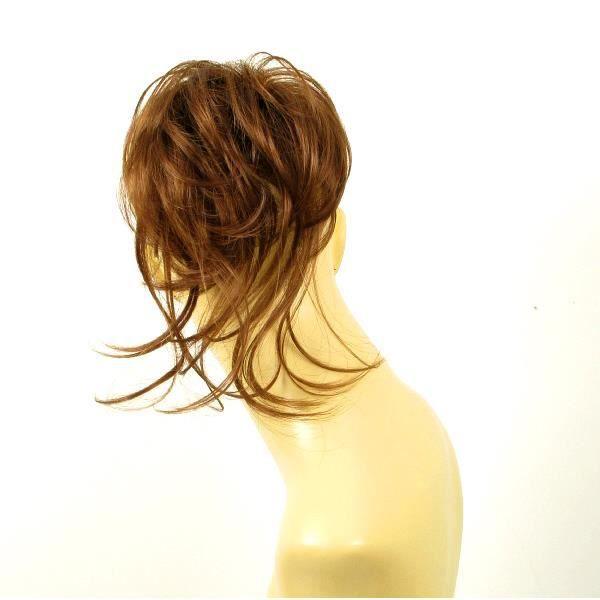 postiche chouchou cheveux châtain doré cuivré ref: 22 en 30