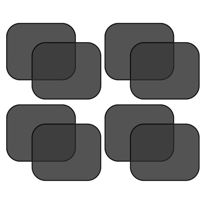 4 paires de pare-soleil de voiture ventouse fenêtre ombre latérale aveugle pour Auto PARE-SOLEIL - BANDE SOLAIRE - FILM SOLAIRE