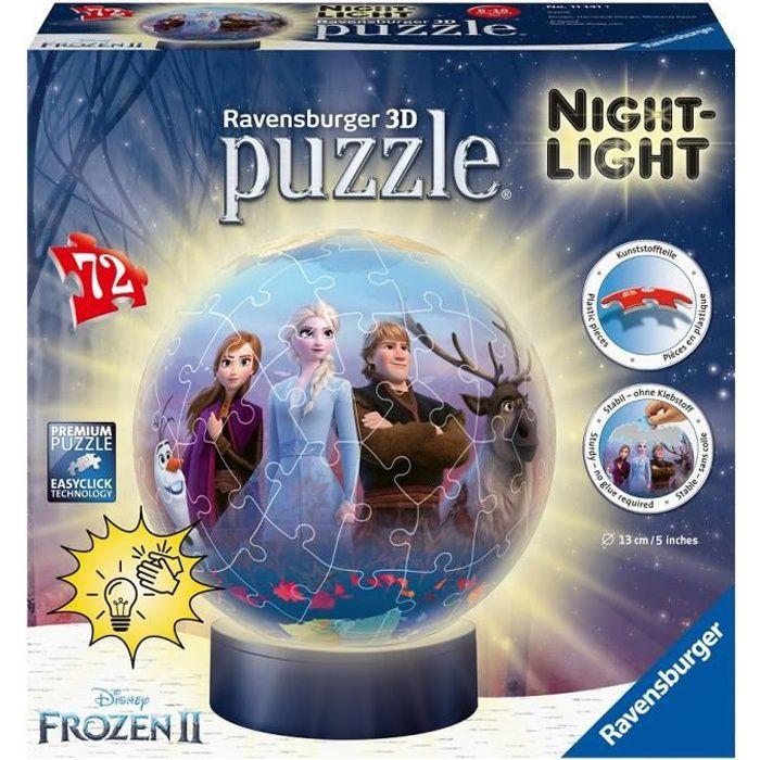 Puzzle 3D Ball 72 p illuminé - Disney La Reine des Neiges 2