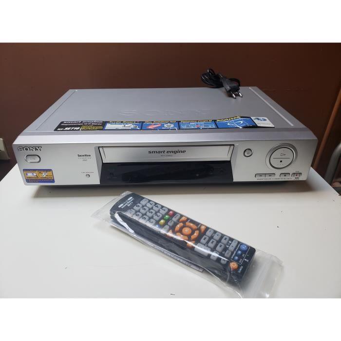 MAGNETOSCOPE SONY SLV-SE710 6 TETES HIFI STEREO LECTEUR ENREGISTREUR K7 CASSETTE VIDEO VHS VCR + TEL