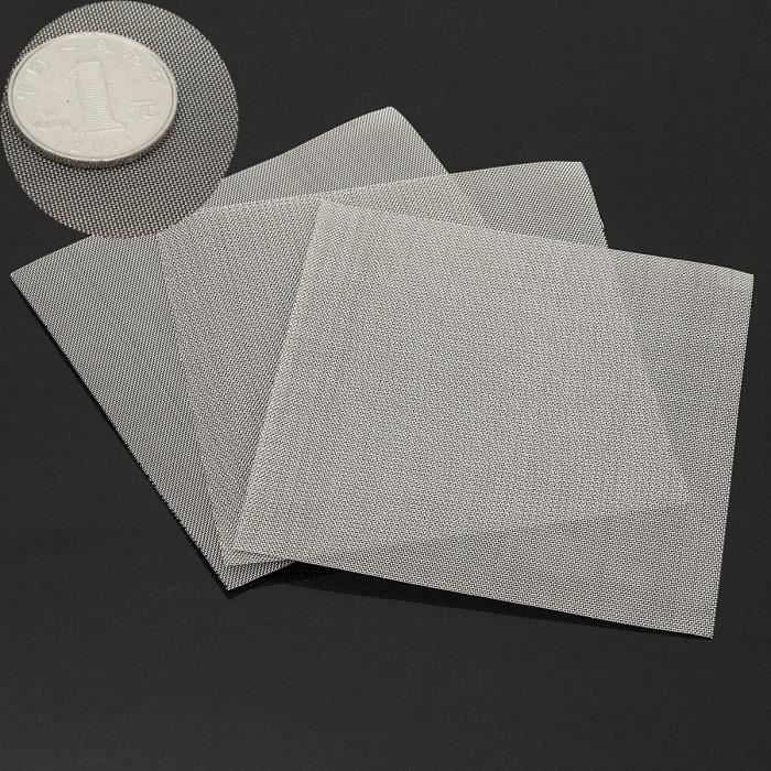 3Pcs 50 Mesh Fine Screen Micron Filtration Filtre Acier inoxyable Filter 10X10CM
