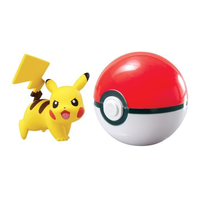 POKEMON Coffret Clip'n'Carry PokéBall + Pikachu