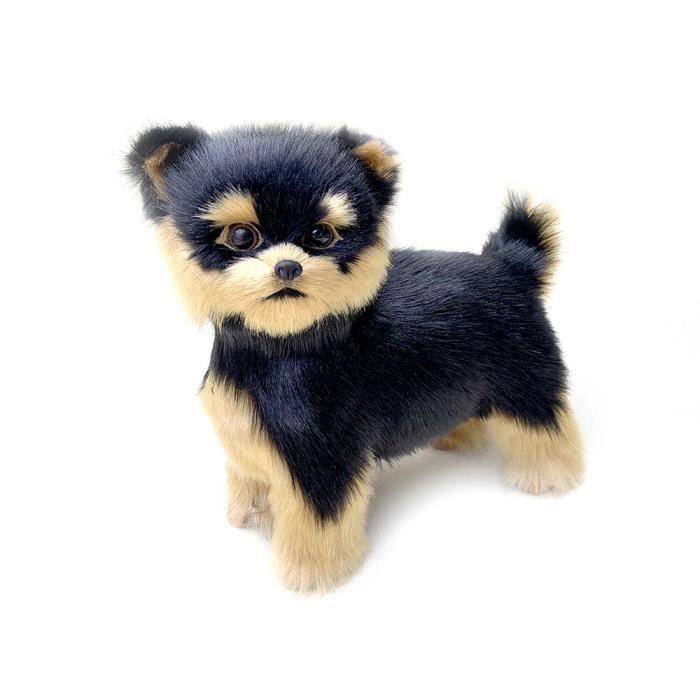 Peluche chien réaliste  enfants Cadeau de Noël Realistic Yorkie