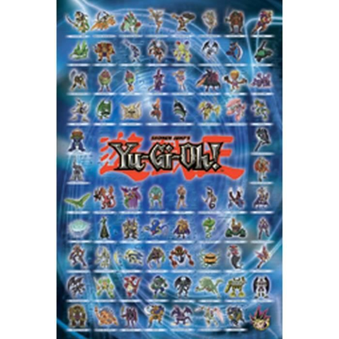 yu gi oh poster achat vente yu gi oh poster pas cher les soldes sur cdiscount cdiscount. Black Bedroom Furniture Sets. Home Design Ideas