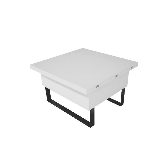 Table basse relevable viper finition laqu blanc achat vente table bass - Table basse blanc laque cdiscount ...