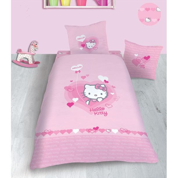 hello kitty parure housse de couette lucie achat vente parure de couette cdiscount. Black Bedroom Furniture Sets. Home Design Ideas