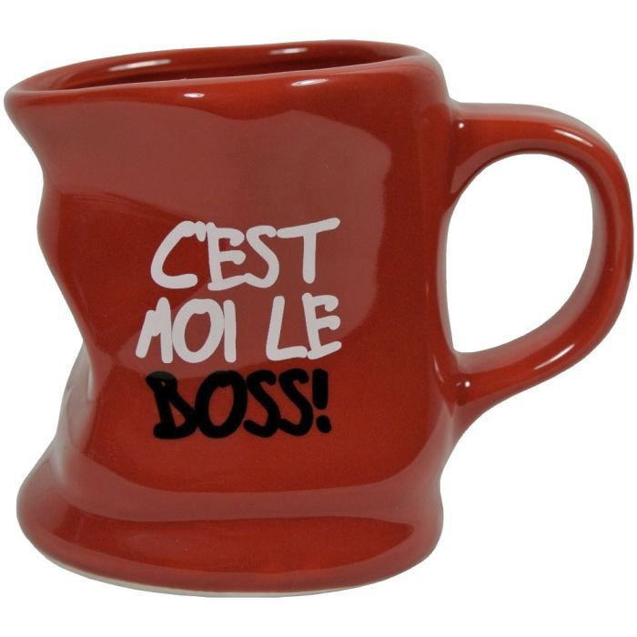 mug tasse caf froiss design fun mot boss rouge achat vente bol mug mazagran cdiscount. Black Bedroom Furniture Sets. Home Design Ideas