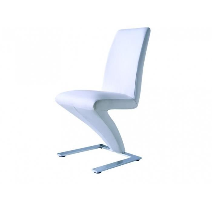 Lot 6 chaises z blanches achat vente chaise blanc soldes cdiscount - Lot de 6 chaises blanches ...