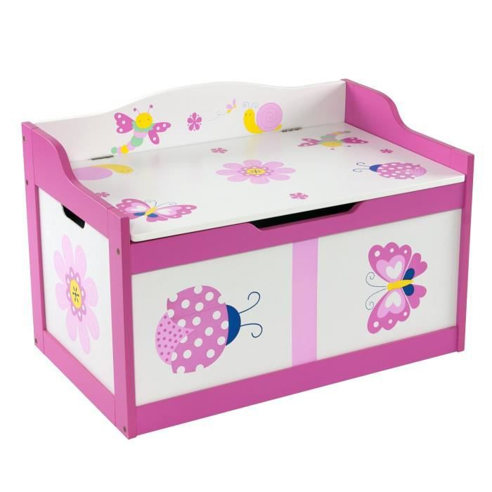 firts baby safety coffre de rangement motif papillon. Black Bedroom Furniture Sets. Home Design Ideas