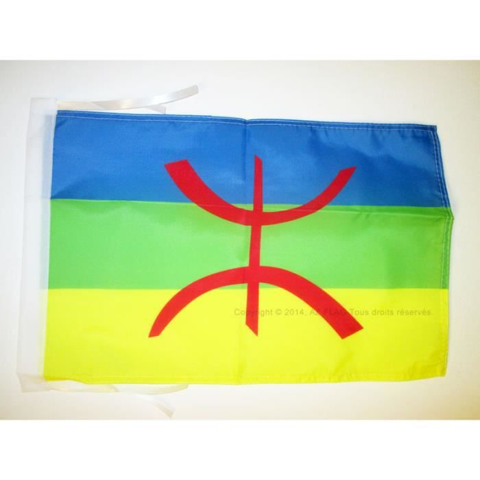 Drapeau kabylie 45x30cm kabyle alg rie berb re haute for Haute kabylie
